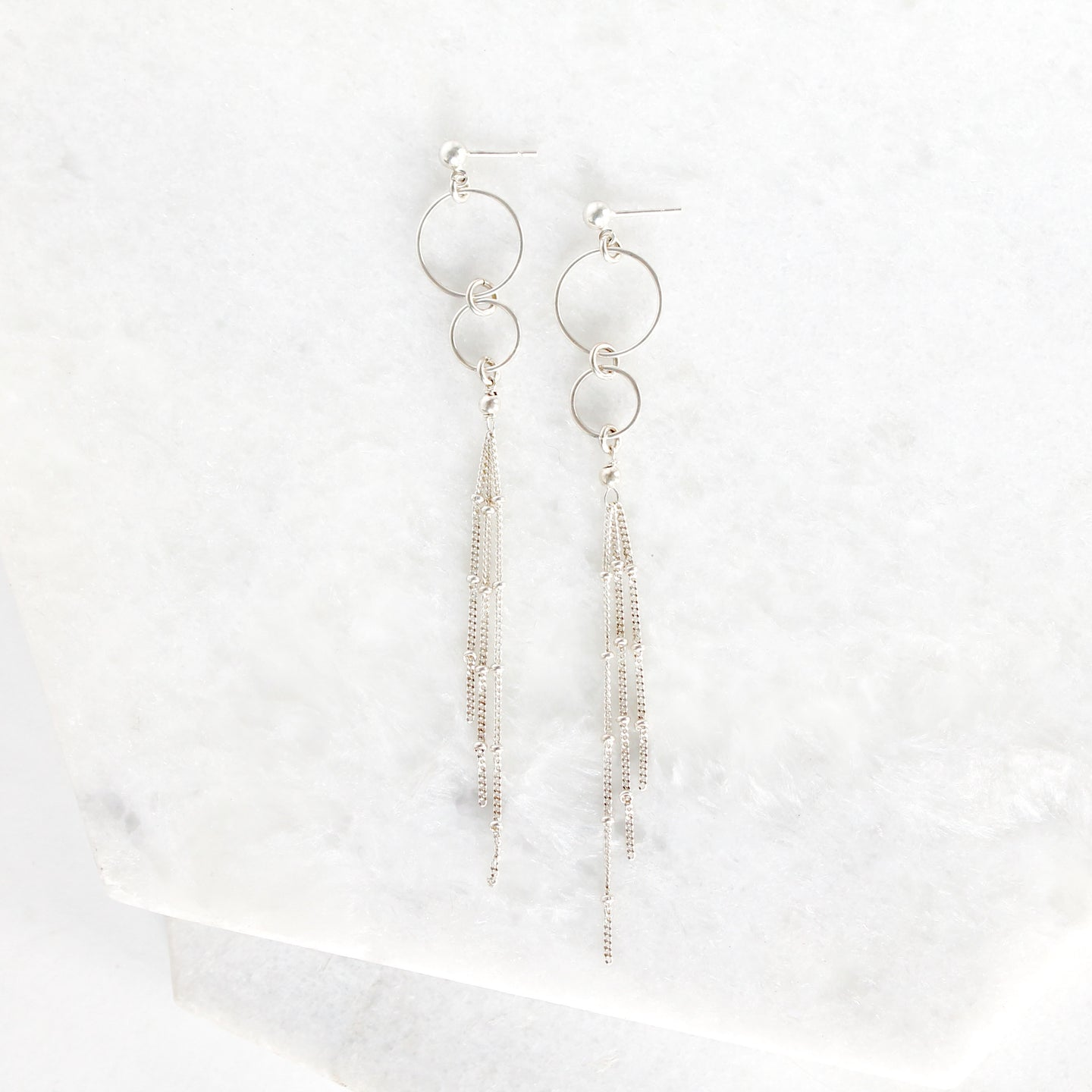 Seraphina Hoop Tassel Earrings