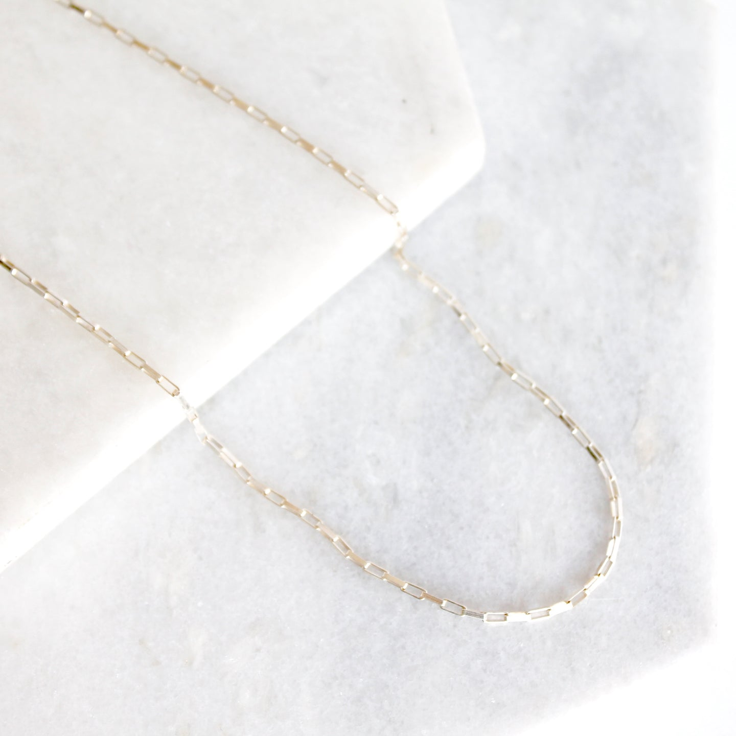 Square Link Chain Necklace