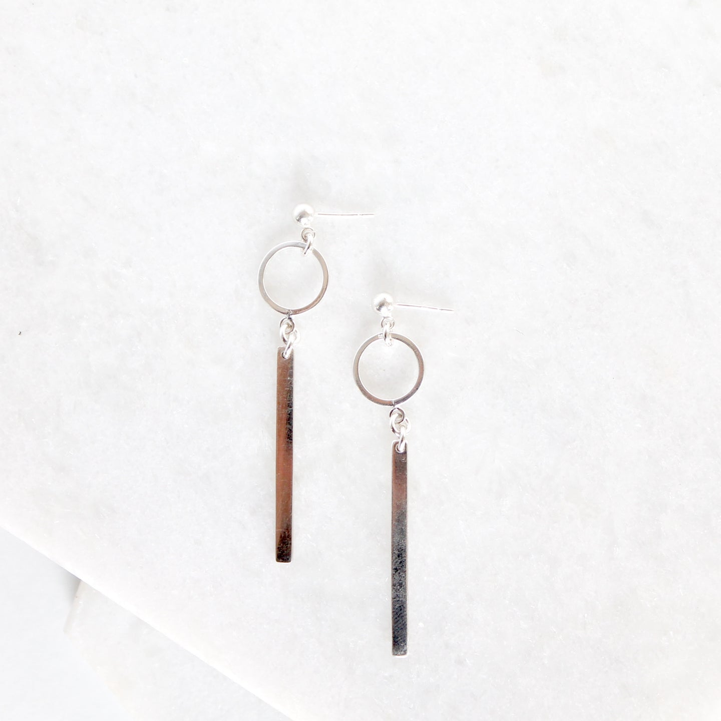 Long Bar Hoop Earrings