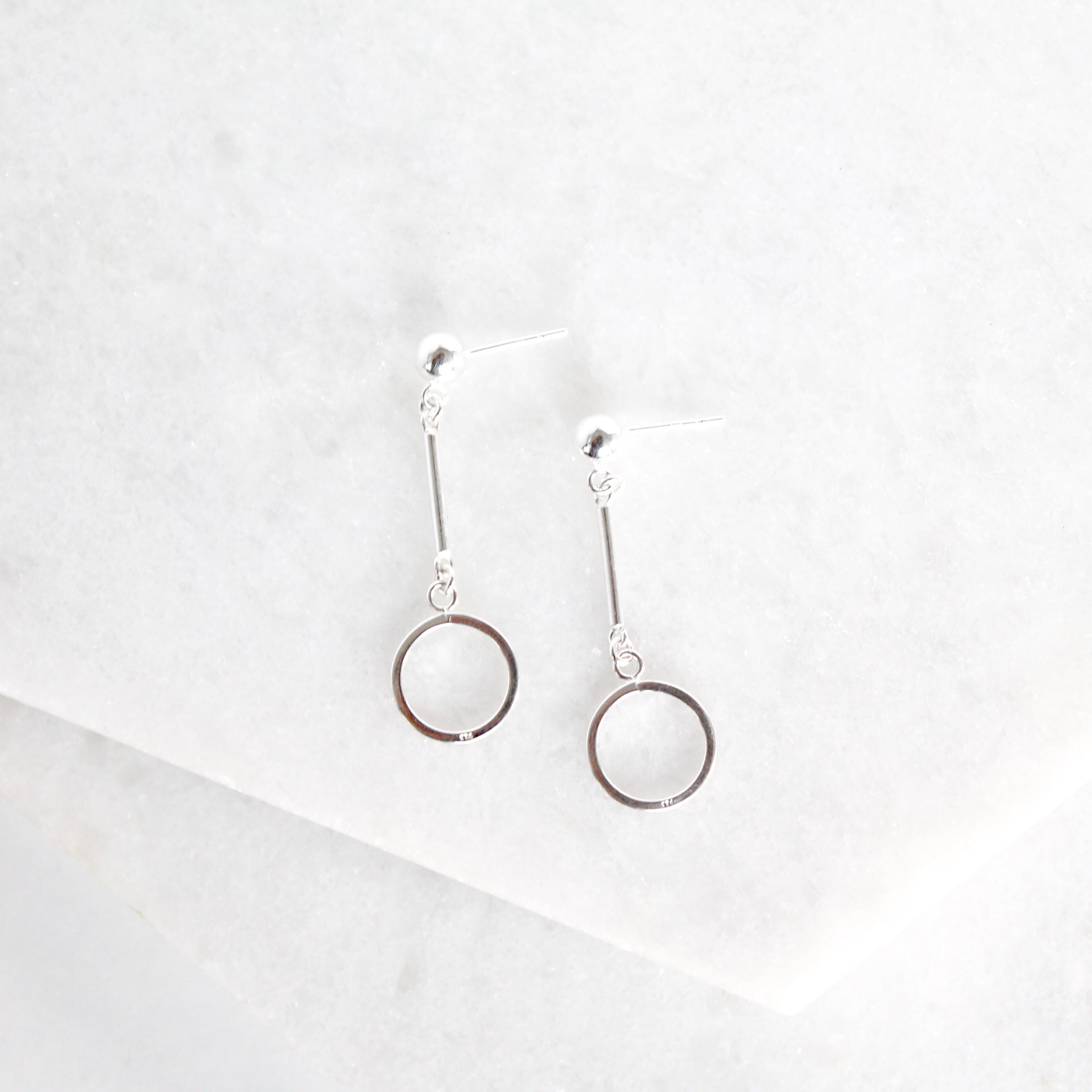 Mini Bar Hoop Earrings