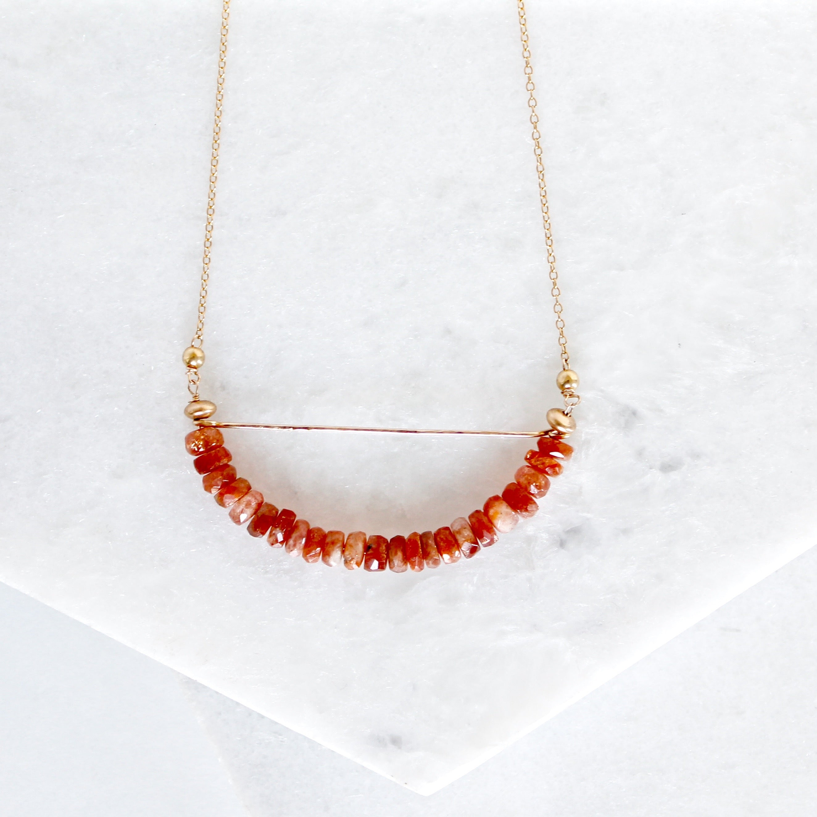 Bar Crescent Necklace