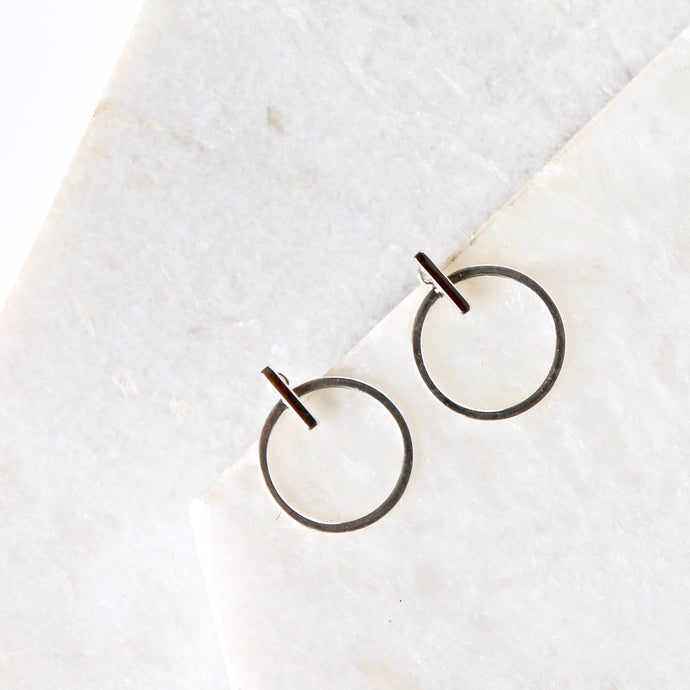 Orbit Bar Jacket Earrings