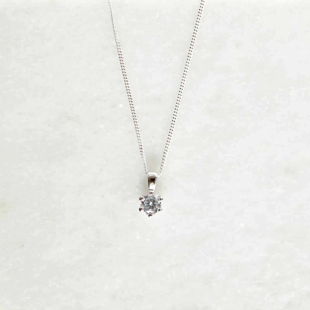 Stardust Spark Necklace - Silver