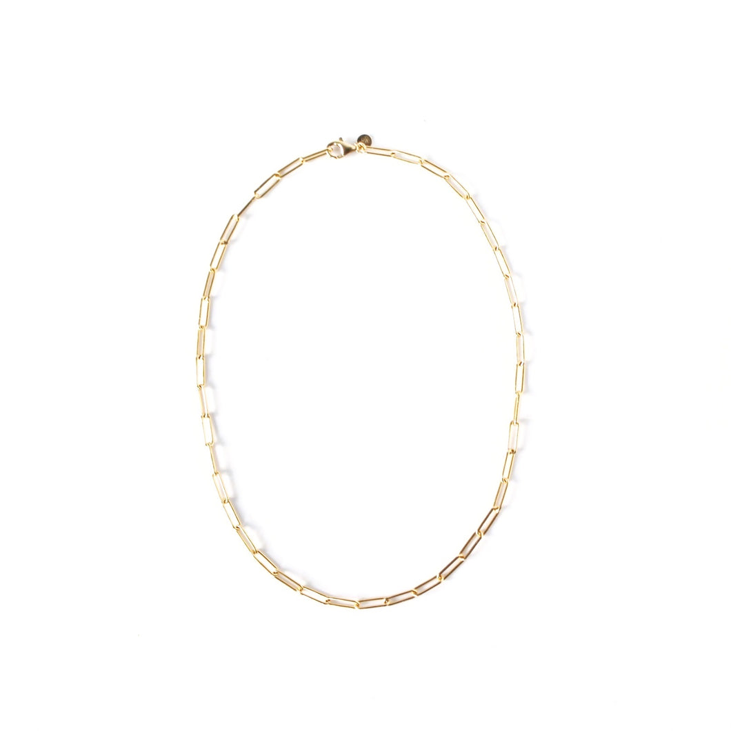 The Fortuity Paperclip Necklace Gold 16