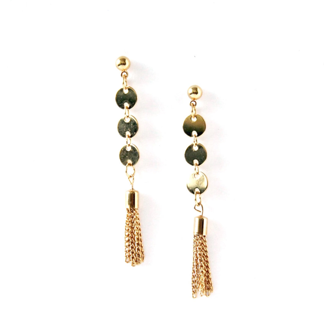 The Affluent Coin Earrings