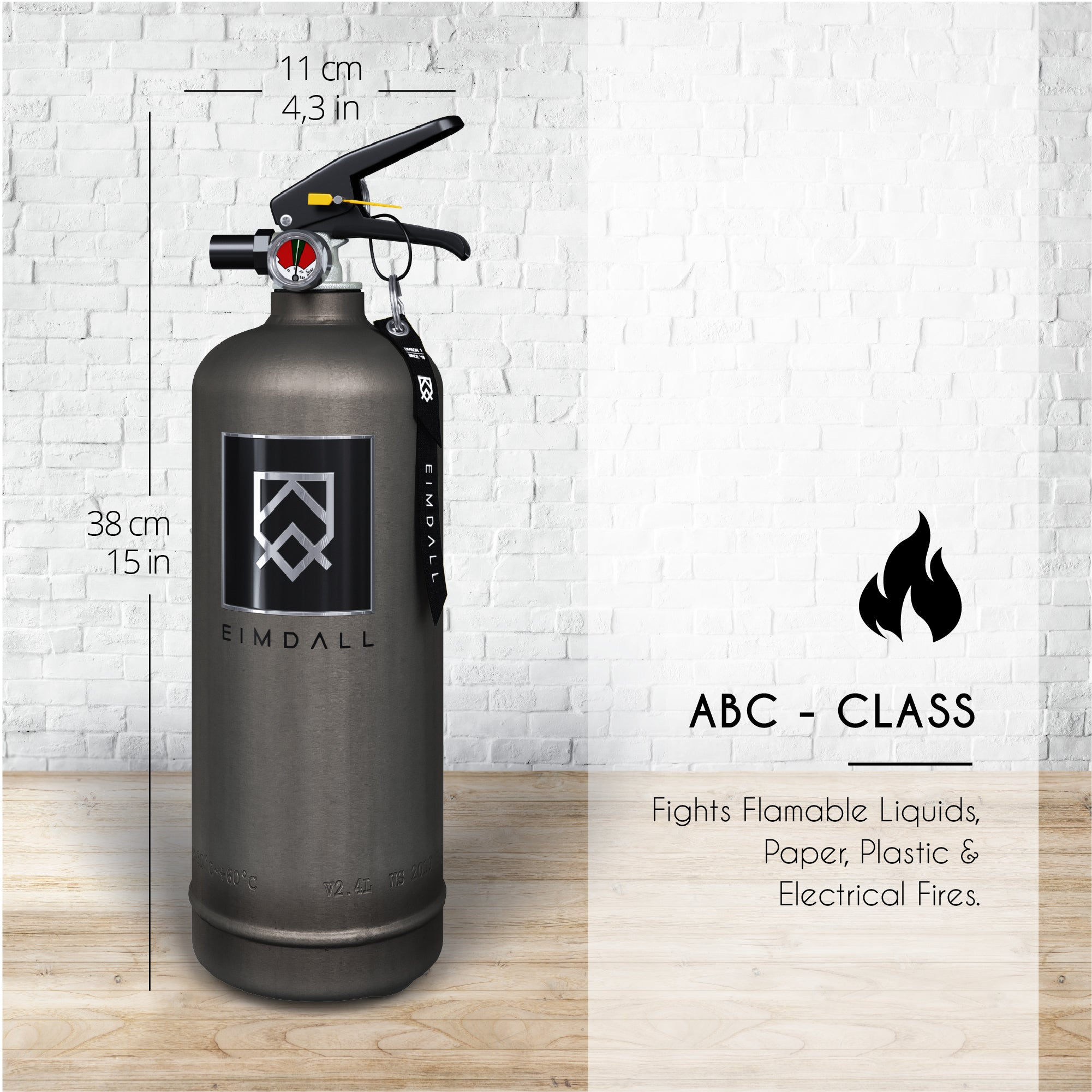 BALDER - Rust/Industrial 2 kg Design Fire Extinguisher