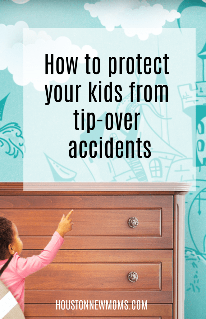 Hangman Anti-Tip Kits featured on HoustonNewMoms.com - How to protect your kids from tip-over accidents