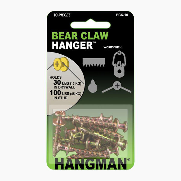 Gold Bear Claw Hangers