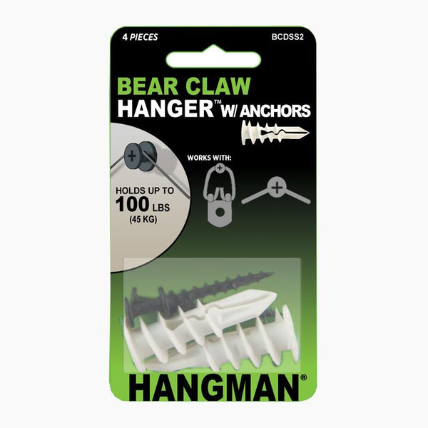 Bear Claw Hanger With Anchors Hangman Products