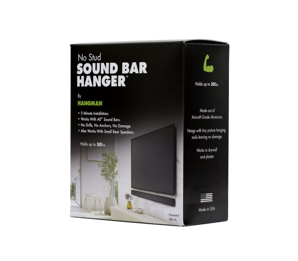 Sound Bar Hanger - No Stud Needed