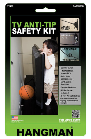TV Anti-Tip Kit - Hangman Products