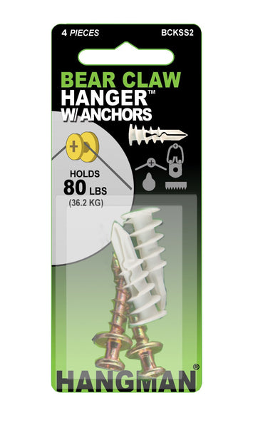 Bear Claw Hanger (Gold) With Anchors