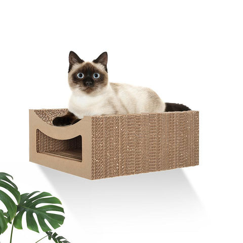 Wall Mounted Cat Shelf - Tabby - Hangman Products