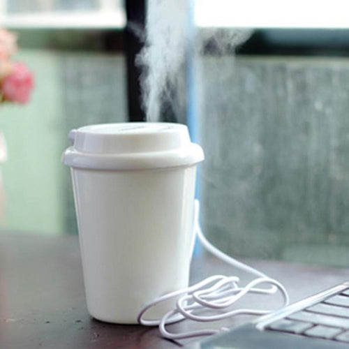 Coffee Cup USB Diffuser Humidifier and Air Purifier - The Corporate Goddess