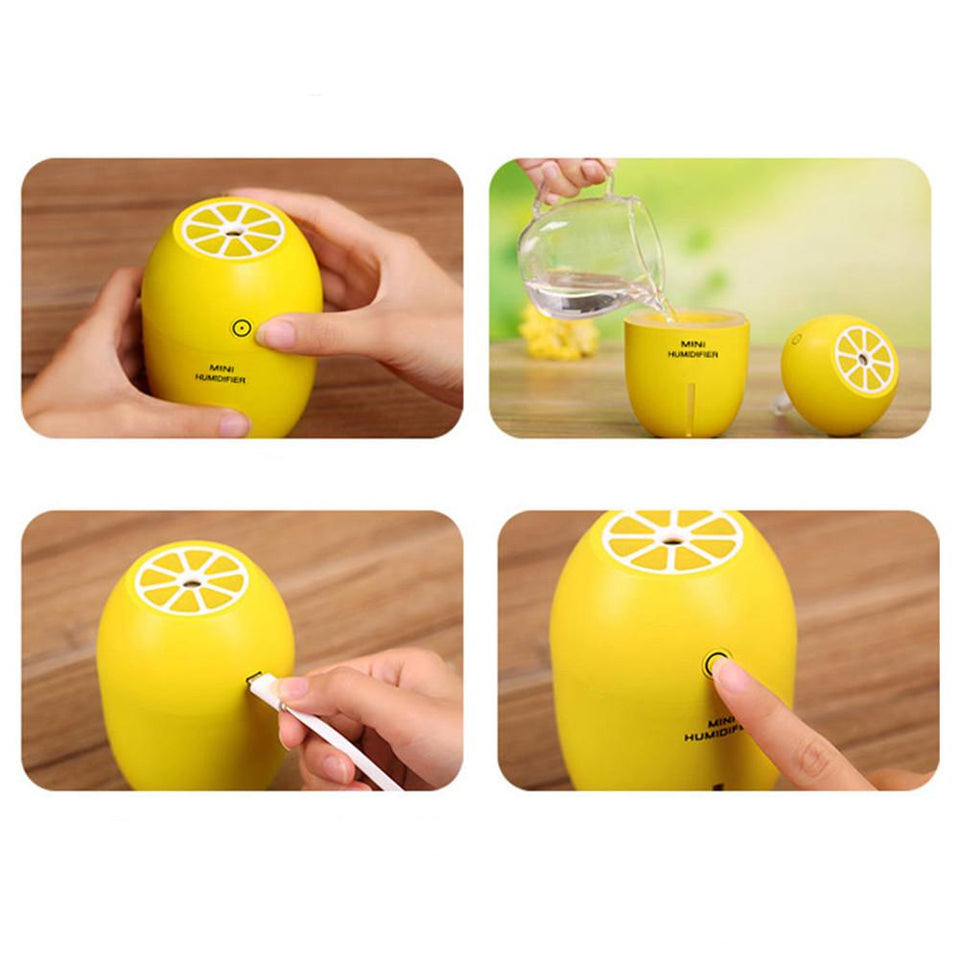 Lemon USB Diffuser Humidifier and Air Purifier-The Corporate Goddess