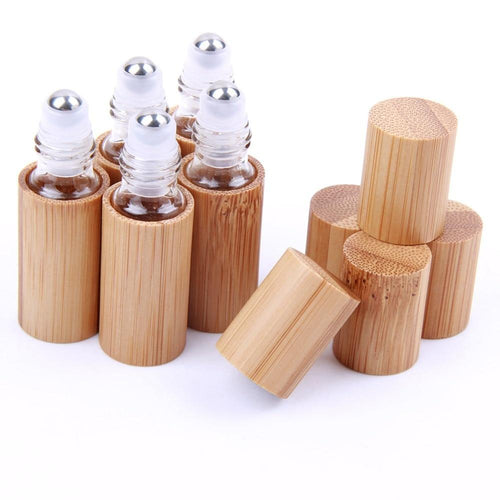 5 Bamboo Roller Ball Bottles - The Corporate Goddess