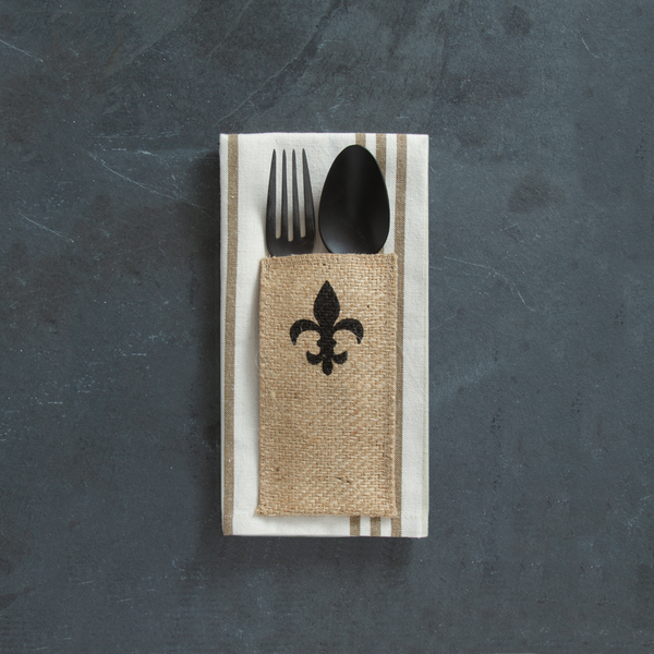 everyday | print | fleur de lis  | set of 8