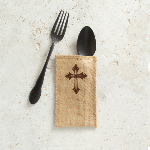 embroidered cross | set of 8