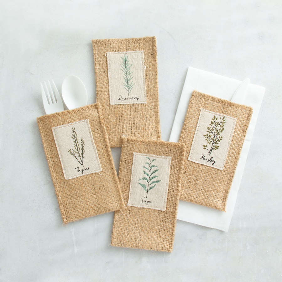 everyday | print | assorted herbs | set of 8