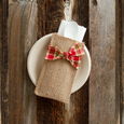 hand-tied ribbon | holiday plaid | set of 8