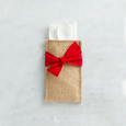 hand-tied ribbon | red | set of 8
