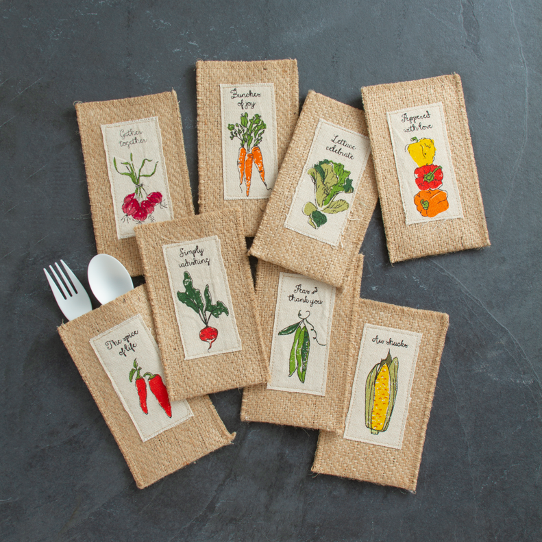 garden | print | assorted veggies | set of 8