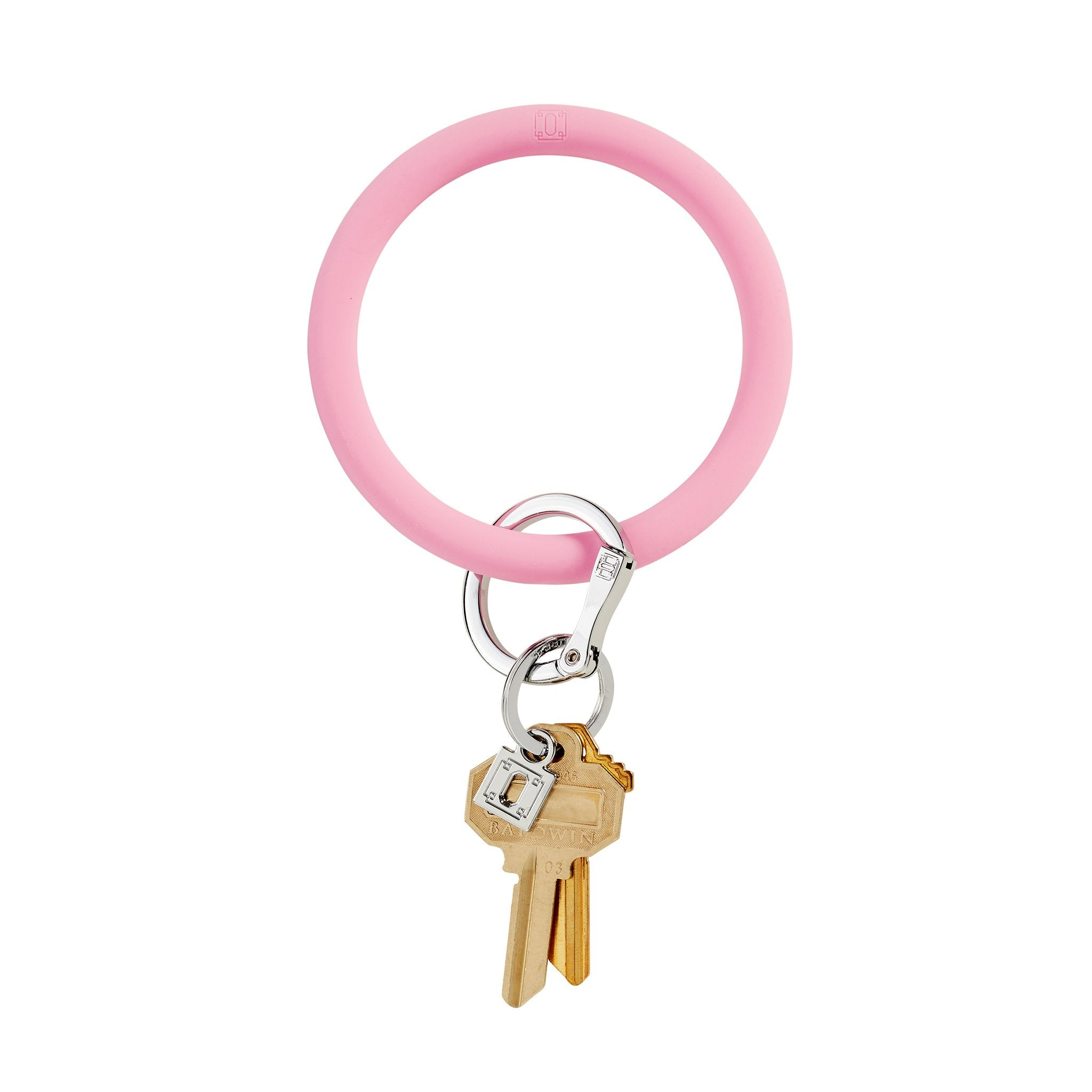 Silicone O-Venture Key Ring - Light Pink