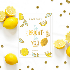 Be Bright Be You Gold Foil Face Mask