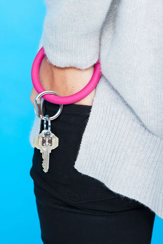 Silicone O-Venture Key Ring - Hot Pink