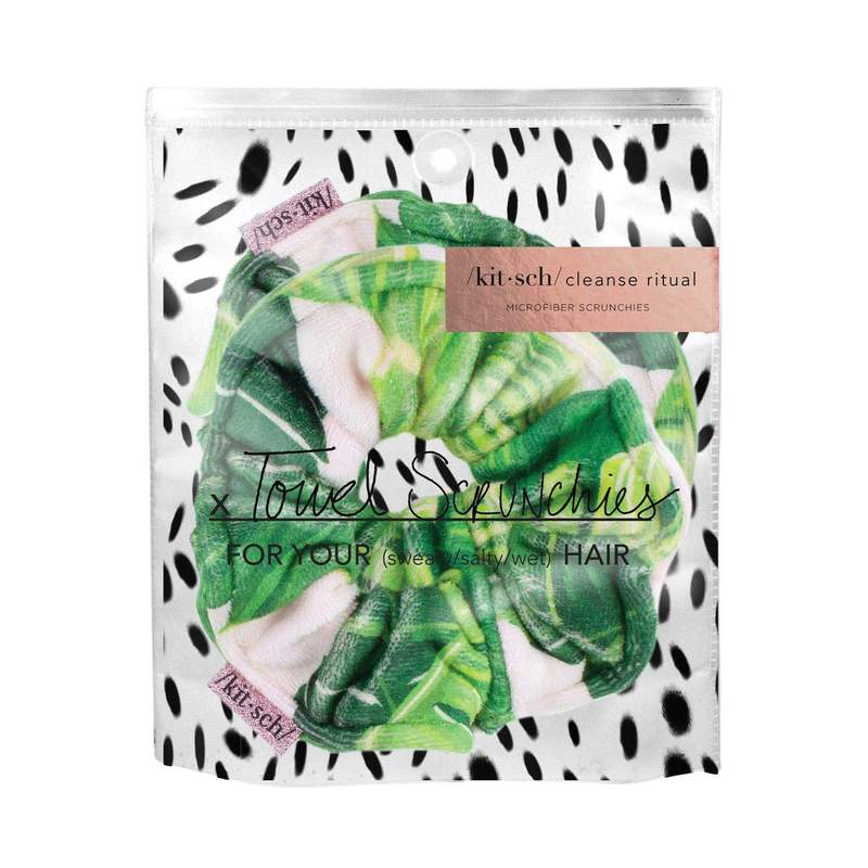 Microfiber Towel Scrunchies - Palm Leaves