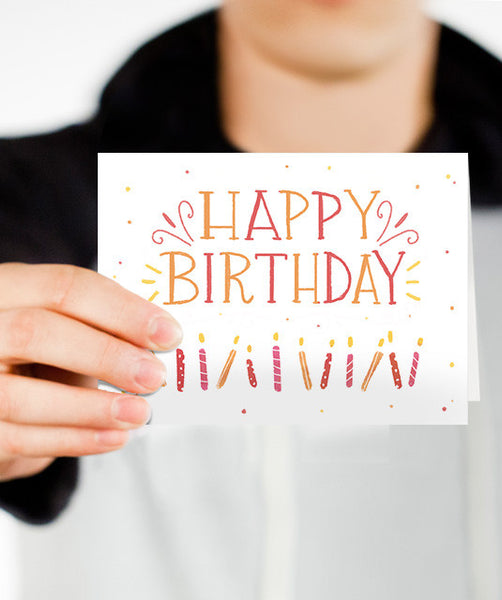 Candle Birthday Card