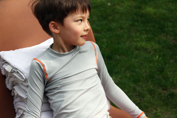 UPF 50+ Kids Rash Guard - Grey