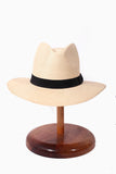 Maya Neumann Panama Style Hat - Black Ribbon  (Limited stock, please enquire before purchasing)