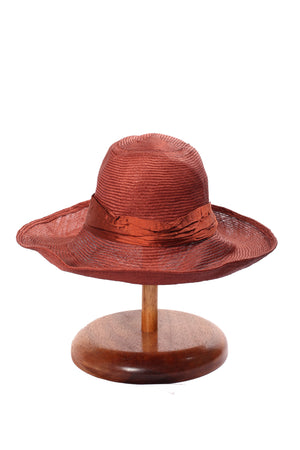 Maya Neumann Squash Hat - Rust Limited Stock please inquire before ordering