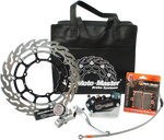 MOTOMASTER BRAKES SUPERMOTO RACING KIT for Husaberg, Ktm and Husqvarna. - Motoboats us