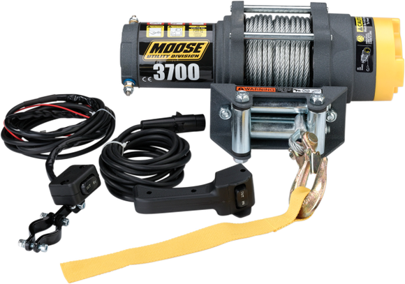 MOOSE UTILITY WINCH 3700LB W/WIRE ROPE - Motoboats us