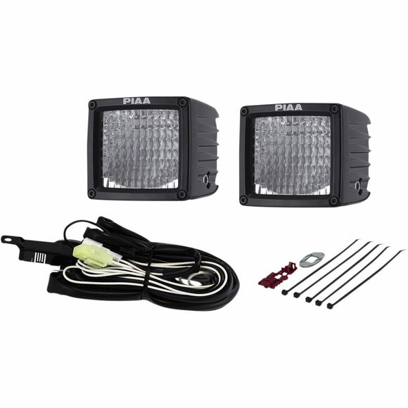 PIAA RF Series 3in. LED Cube Light Flood Beam Kit - Motoboats us