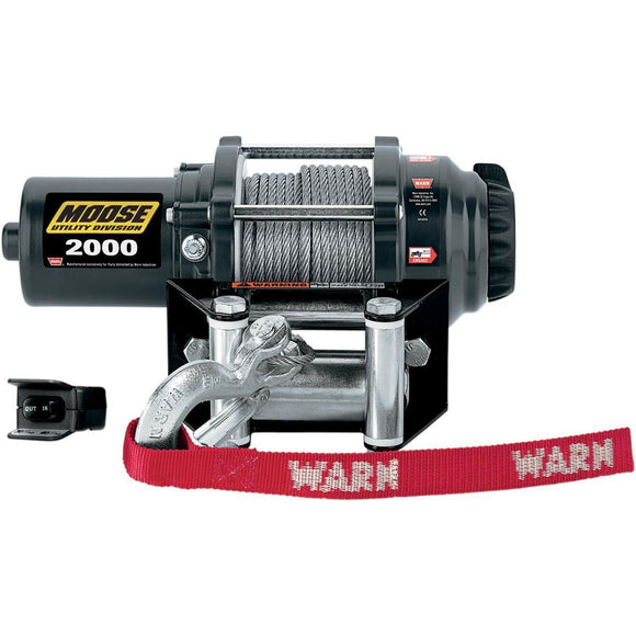 MOOSE 2,000-lb. Winch with Synthetic Rope - Motoboats us