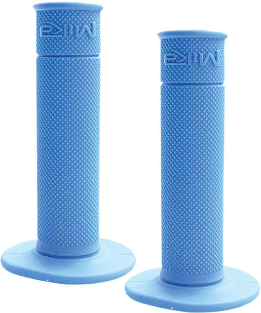 MIKA METALS 50/50 WAFFLE GRIPS (BLUE)