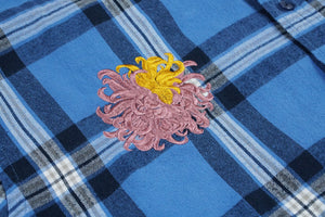 blush & mustard chrysanthemum plaid flannel | XL/XXL