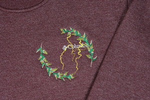 laurel, lightning & chrysanthemum crewneck | fleece crewneck sweater | XL