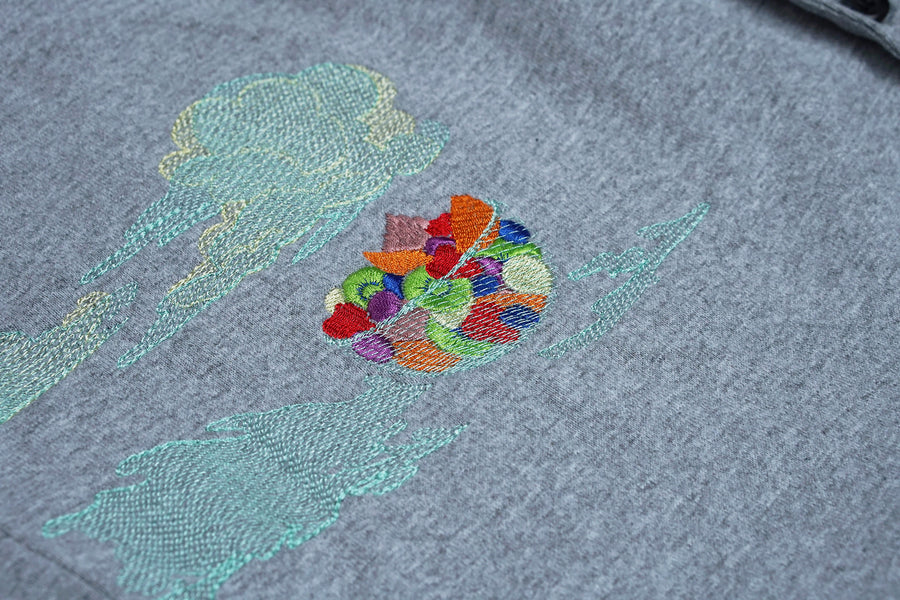 cloud fruit salad | cotton baseball jersey  | L / XL
