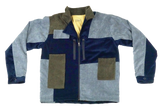 corduroy patch jacket - beach