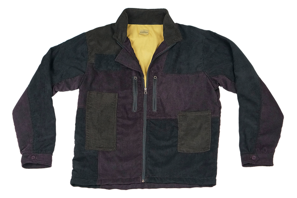 corduroy patch jacket - midnight