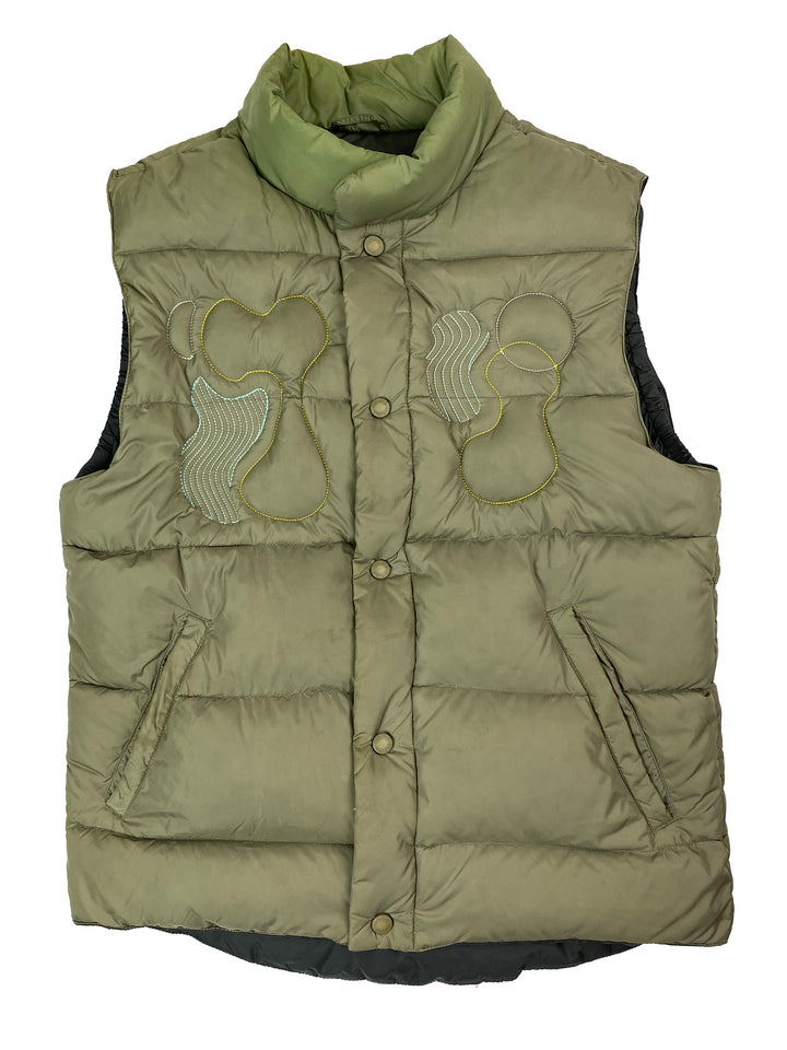 olive down puffer vest | S/M