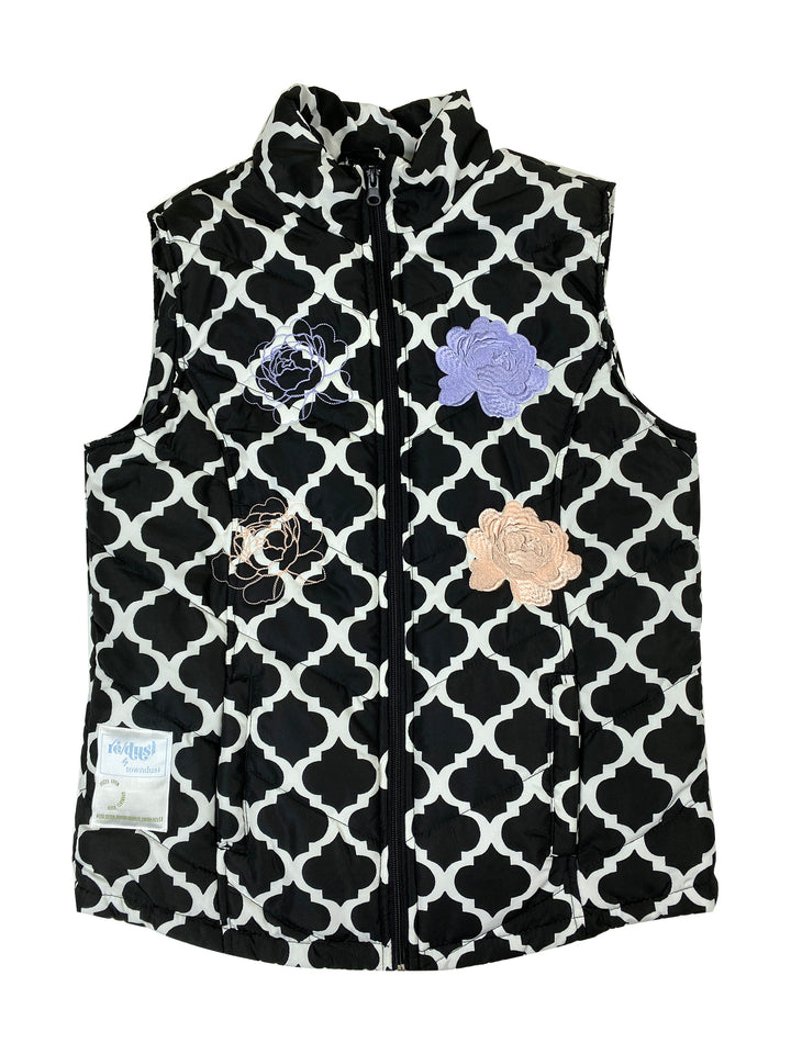patterned puffer vest | S