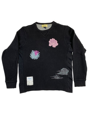 peony, cloud, chrysanthemum black thermal | M