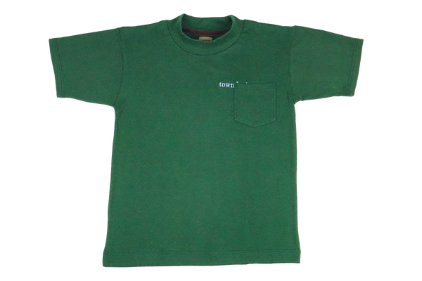 hidden logo mock neck tee - green