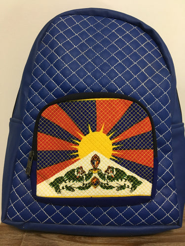 Blue Tibetan Flag Backpack