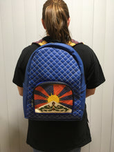Load image into Gallery viewer, Blue Tibetan Flag Backpack